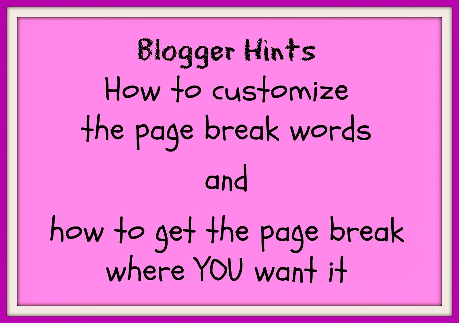 DIY blogging, add line break, customize read more message in blogger blogspot