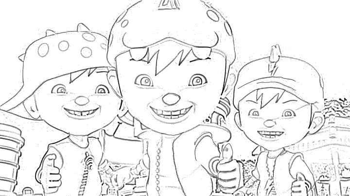 Free Coloring Pages Of Boboi Boy