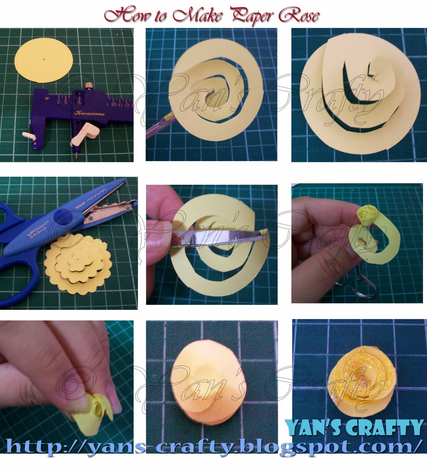 Yans Crafty How To Make Paper Rose