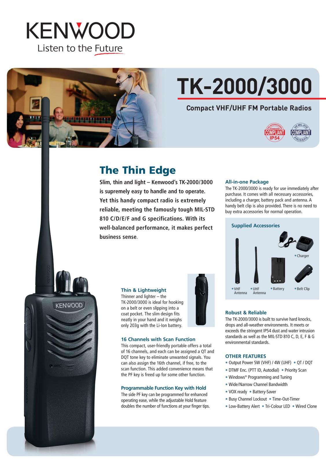 KENWOOD TK 2000 (VHF ) TK 3000 (UHF)