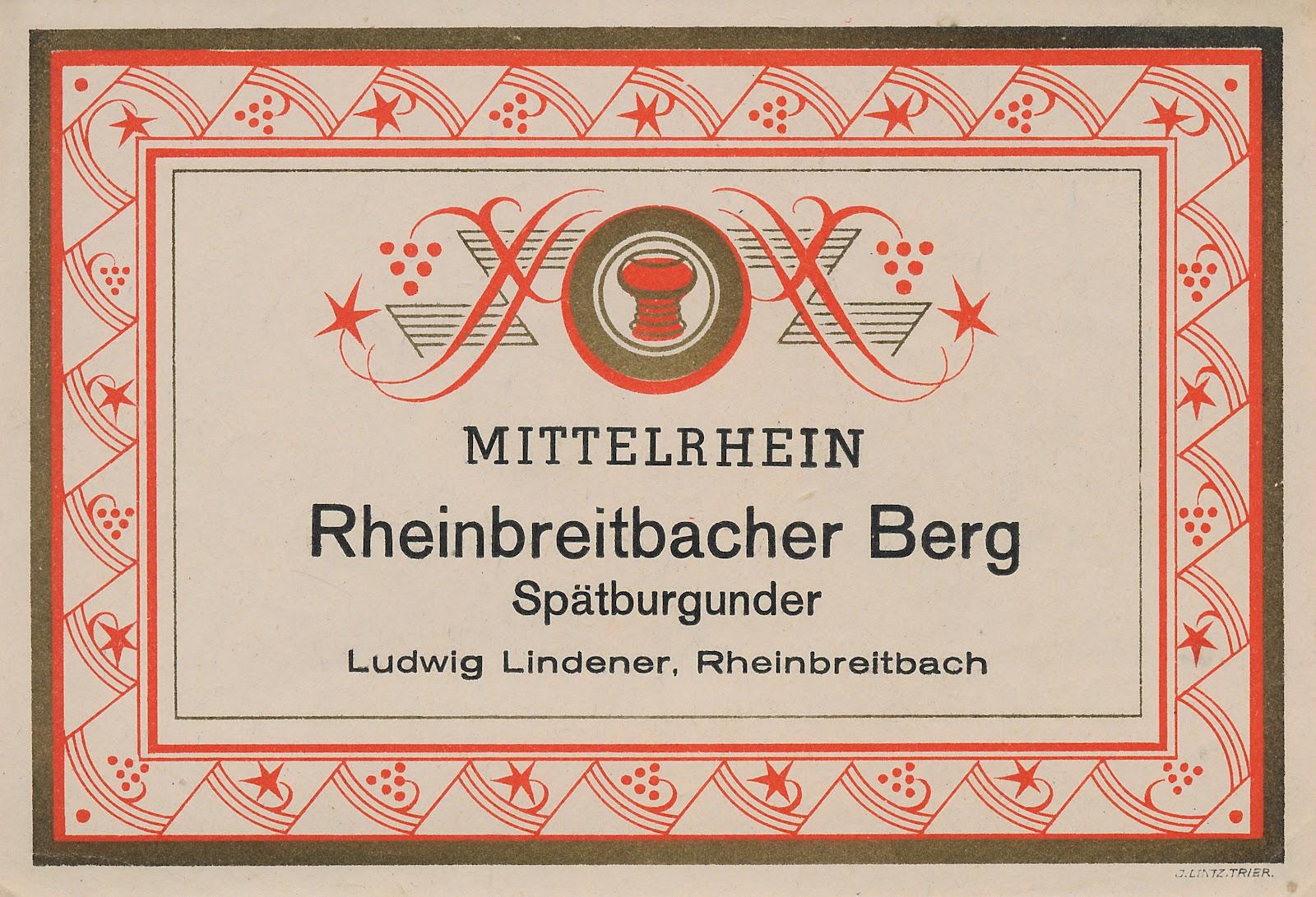 Weinbruderschaft Mittelrhein-Siebengebirge: Etiketten