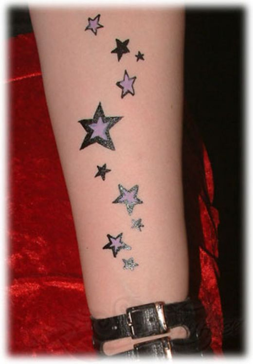 great tattoos star tattoo designs for girls. Black Bedroom Furniture Sets. Home Design Ideas