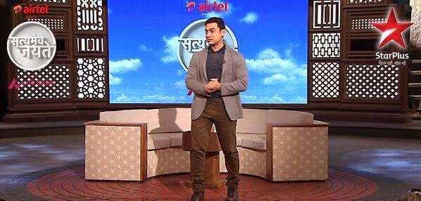 Aamir Khan addressing the audience in Satyamev Jayate 2 talk show
