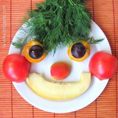 портрет из овощей 3