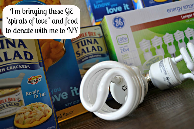 GE Light bulbs and food from Walmart to donate #GELightingCFK