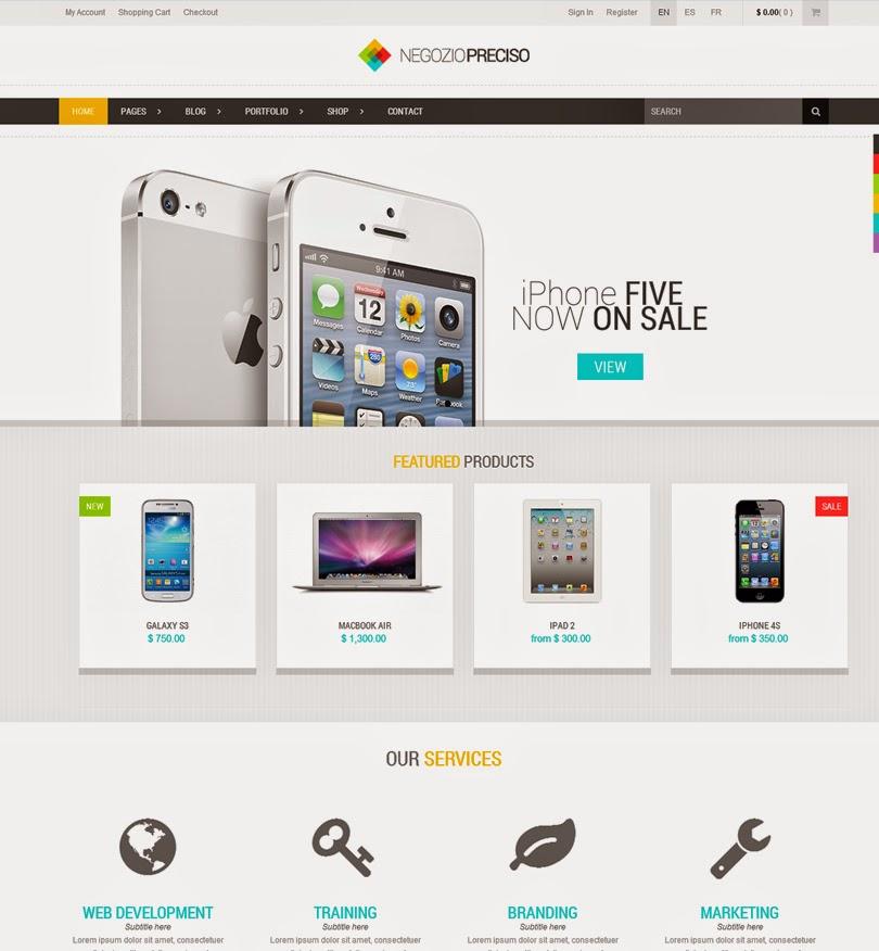 Preciso – Responsive E-Commerce Theme