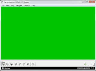 layar blank hijau