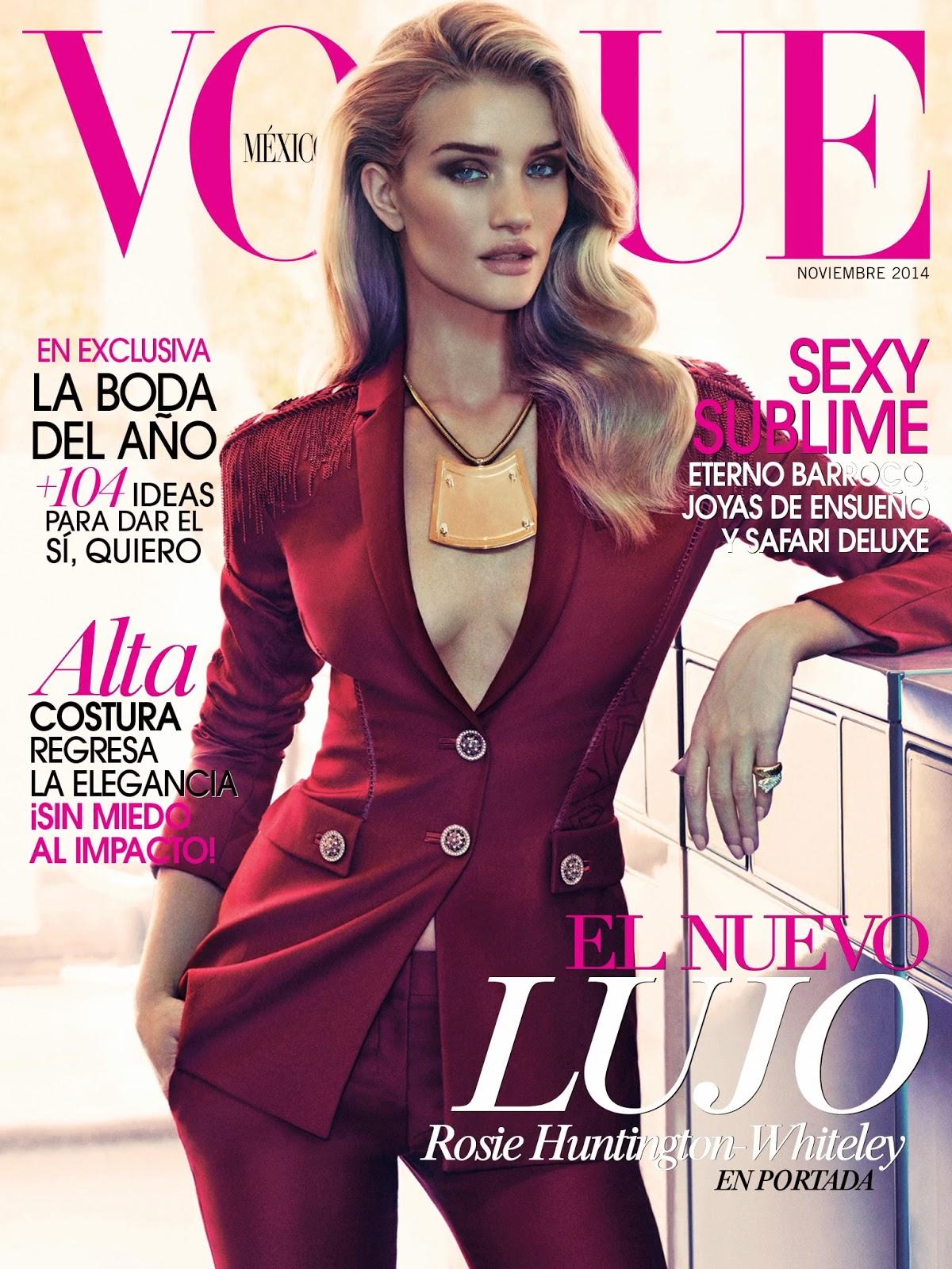 Smile rosie huntington whiteley in vogue mexico november Revista fashion style magazine