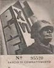 TESSERA 1938 A. XVI E.F.