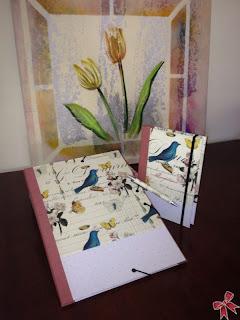 Conjunto de carpeta y agenda cartonaje