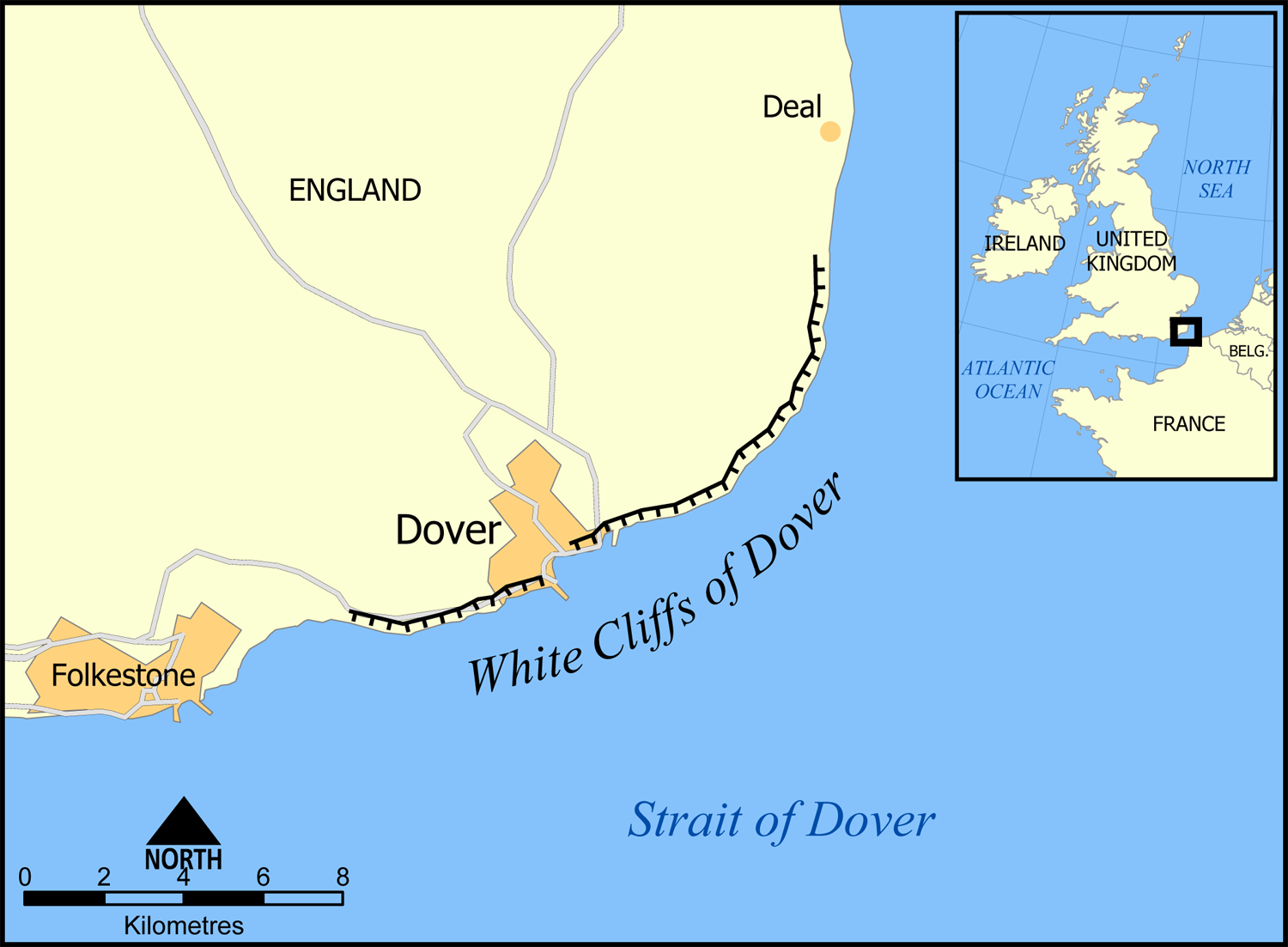 dover is a small town in the county of kent on the eastern coast of england it is host to a major port and is one of the links of england to