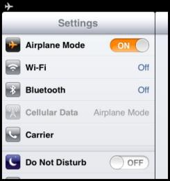 Perbaiki No Sim CARD Installed iPad