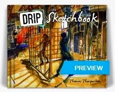 The 62 page DRIP Sketchbook is available for order.