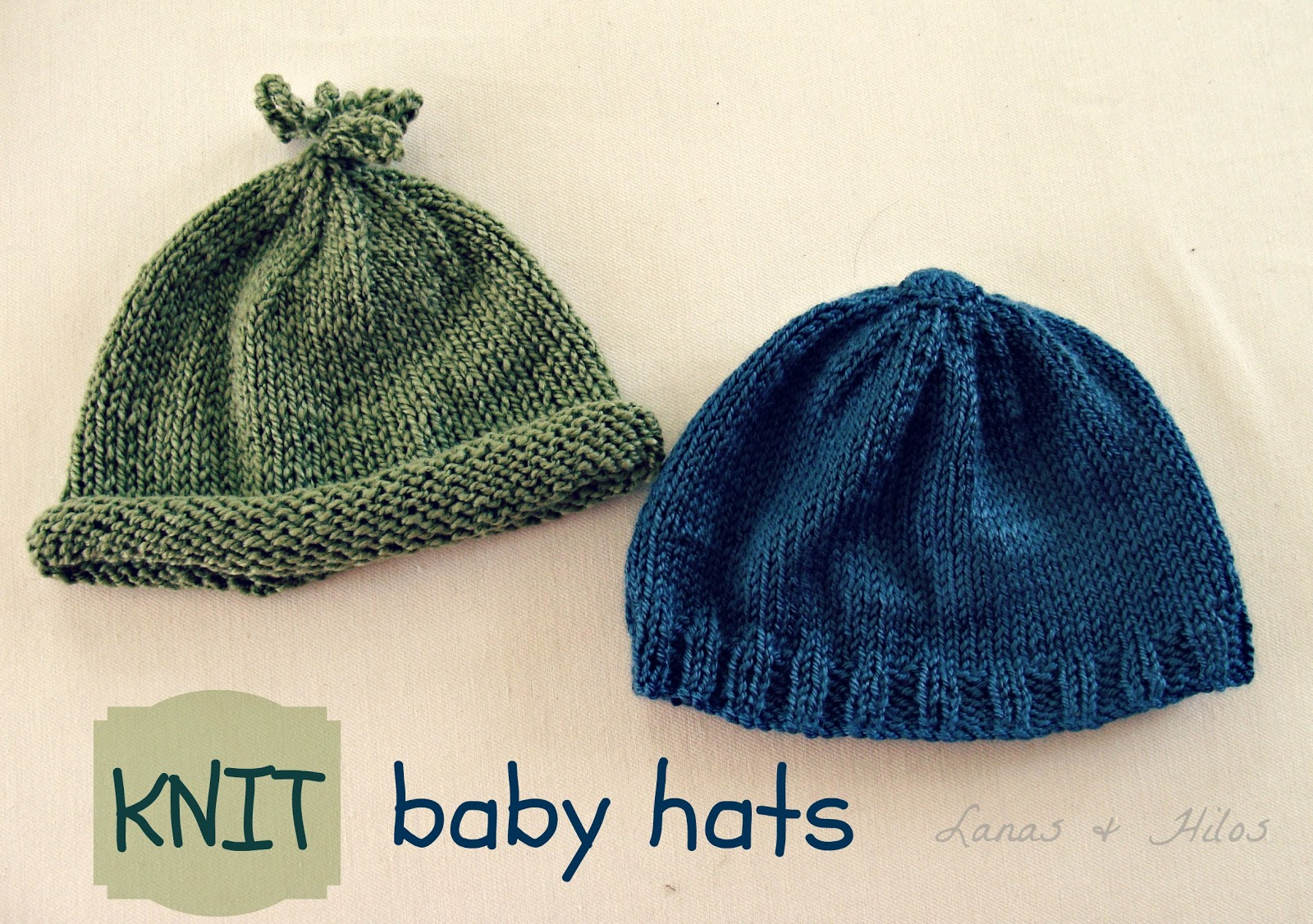These two babyhats were knitted with a light yarn (Dora, Madame