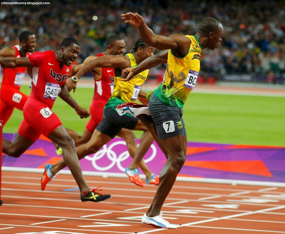 Usain Bolt 100 Meters Champion With 963 Jamaican Athlete Olympics Record London 2012 Hd Desktop Wallpaper