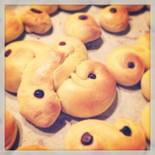 La ricetta dei Lussebullar , le briochine speziate- shabby&countrylife.blogspot.it