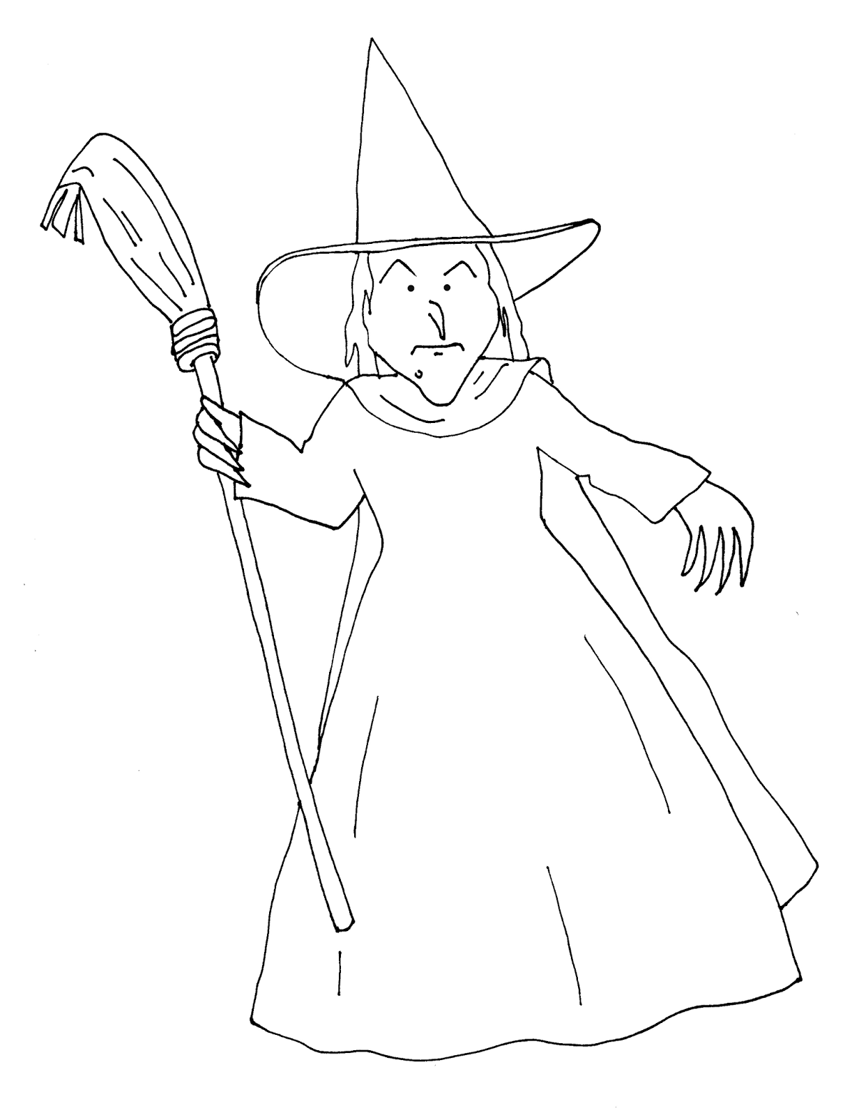 wicked witch coloring pages - photo#12