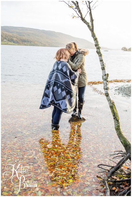 autumn engagement shoot, lake district engagement shoot, lake district pre-wedding shoot,  same sex couple, lesbian engagement shoot, she said yes, katie byram photography