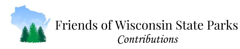 Friends of Wisconsin State Parks - Contributions