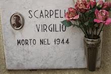 CIMITERO DI RANICA LA LAPIDE IN MEMORIA DI VIRGILIO SCARPELLINI