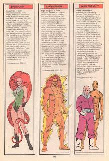 Emperador Solar, Chica Araña y Tarik el Mudo (ficha dc comics)