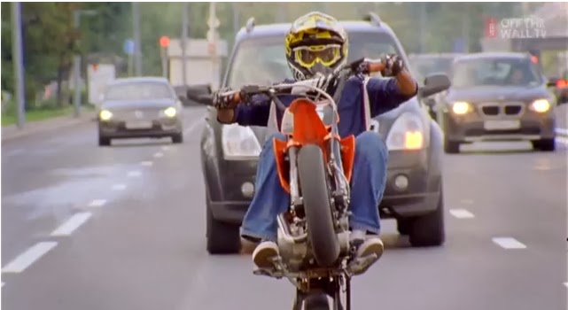 motorbike one wheel