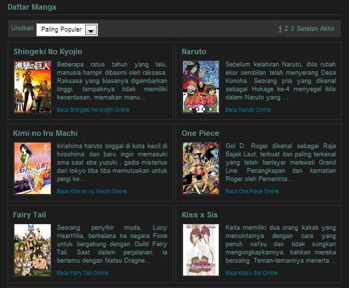 Daftar Komik Manga Populer di Indonesia