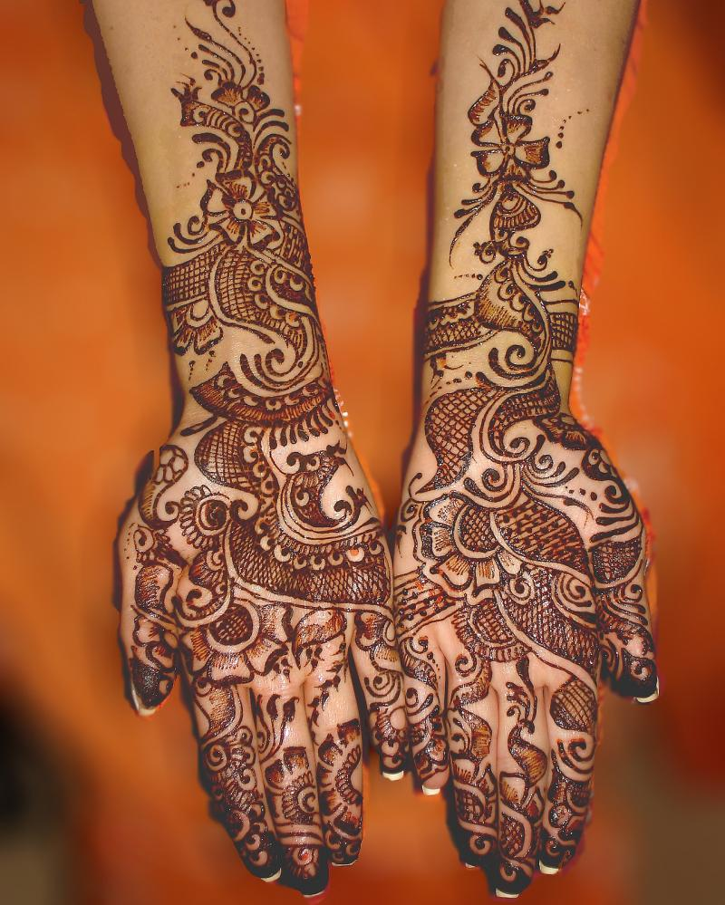 Mehndi Designs For Hands Red : Makeup mehndi designs