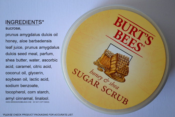 Burts Bees Shea Butter Honey Sugar Coconut Almond Oil Exfoliating Body Scrub Indian Makeup Beauty Blog Dry Skincare How to Use Review Natural Ingredients Bath and Body Products