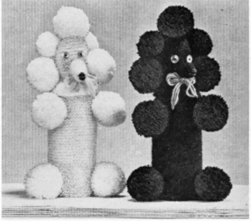 Knitting Now and Then: Poodle Bottle Covers