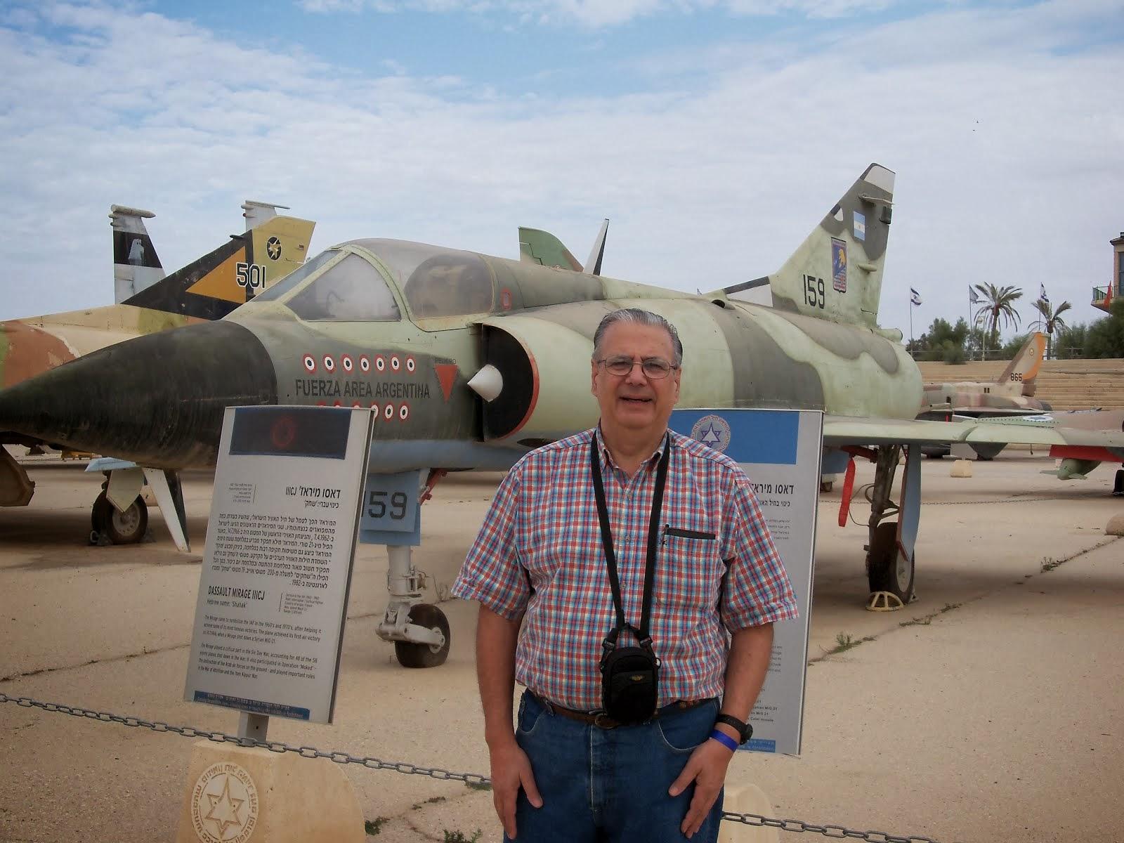Con Mirage V (Ex-Malvinas) en Israel