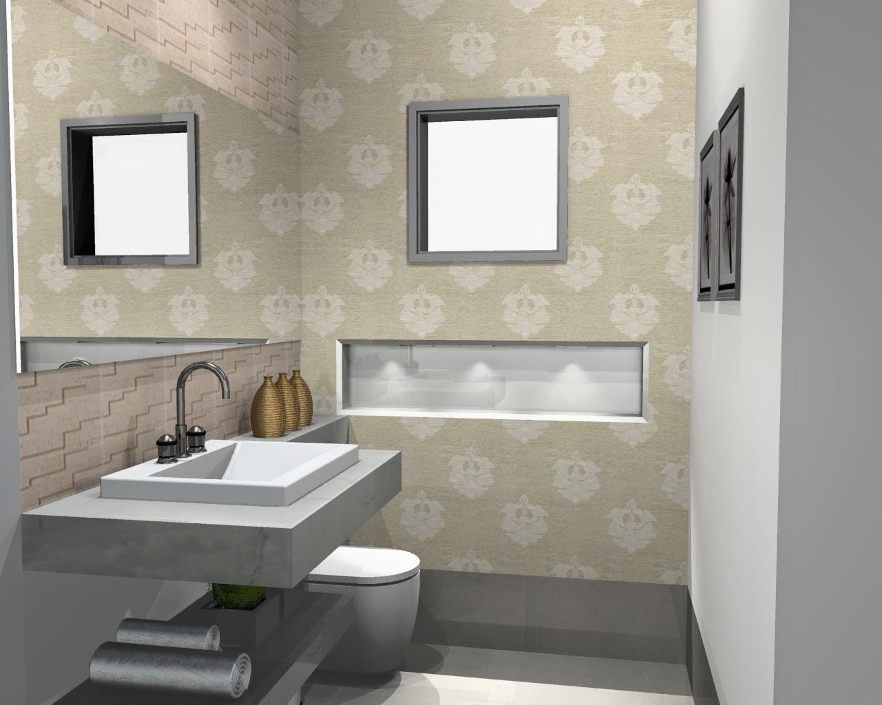 BANHEIRO 7: Na verdade lavabo de área gourmet. #786F53 1280x1024 Banheiro Com Nicho Na Parede