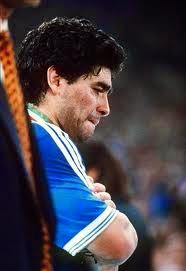Diego llorando mundial Italia 90
