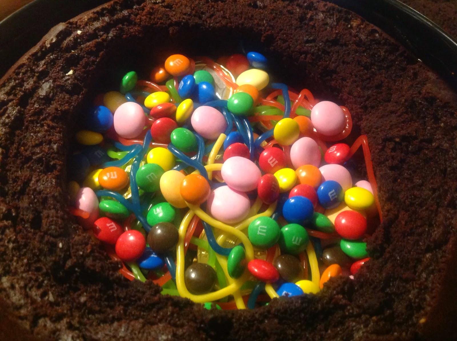 Meine Bunte Seite Pinata Schoko Kuchen