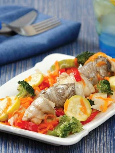 Sebzeli dil balığı buğulama