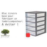 bac tiroirs pour fabriquer un lombricomposteur a eviter. Black Bedroom Furniture Sets. Home Design Ideas