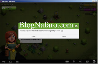 Install Google Play Games apk di BlueStacks