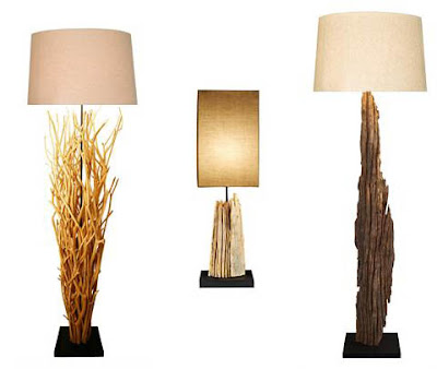 Natural Branch Driftwood Lamps