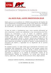 ¡AL RICO PLD!, ¡1036! PUESTOS EN 2019