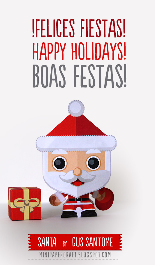 Mini Santa Claus Paper Toy