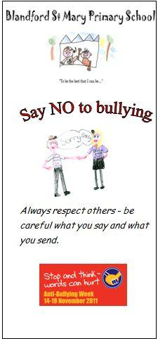 Blandford st mary school council anti bullying leaflet here is a copy of our anti bullying leaflet altavistaventures Image collections