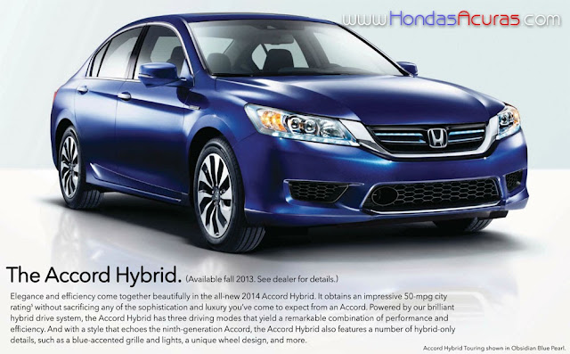 2014 Honda Accord Hybrid 50 Mpg City Touring Obsidian Blue Pearl