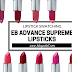 Swatching EB Advance Supreme Lipsticks