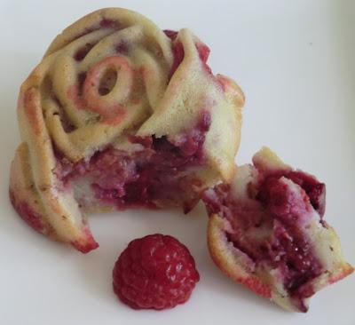 Muffins aux framboises sans gluten et sans lactose