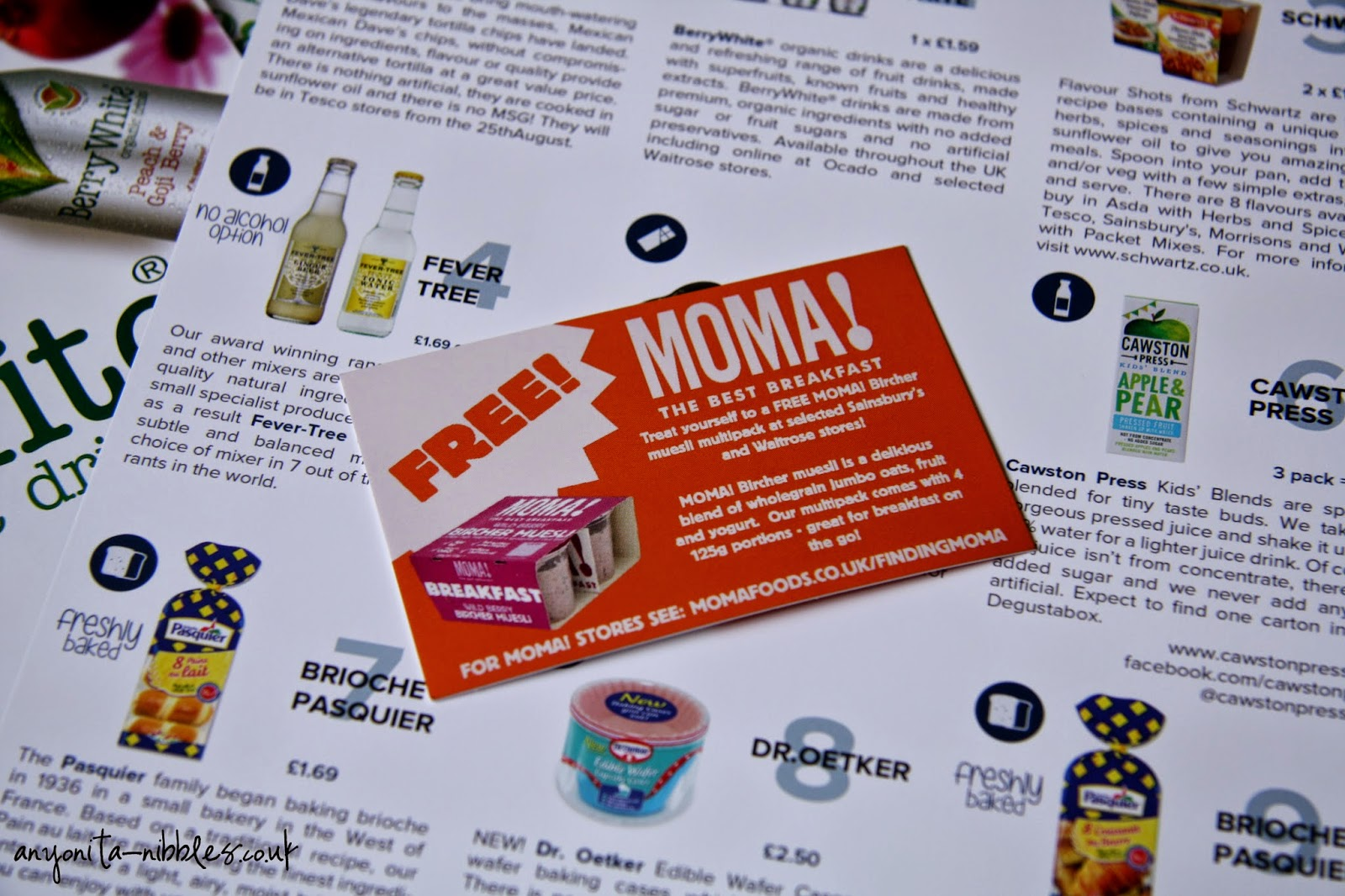 Degustabox also sends refrigerated goodies in the form of vouchers | anyonita-nibbles.co.uk