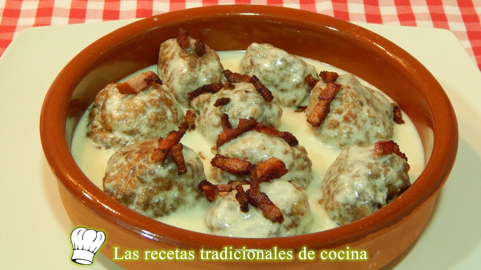 Receta f cil de alb ndigas en salsa de queso - Albondigas tradicionales ...