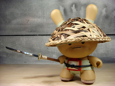 Courageous Spear Boy Custom 8 Inch Dunny by Huck Gee