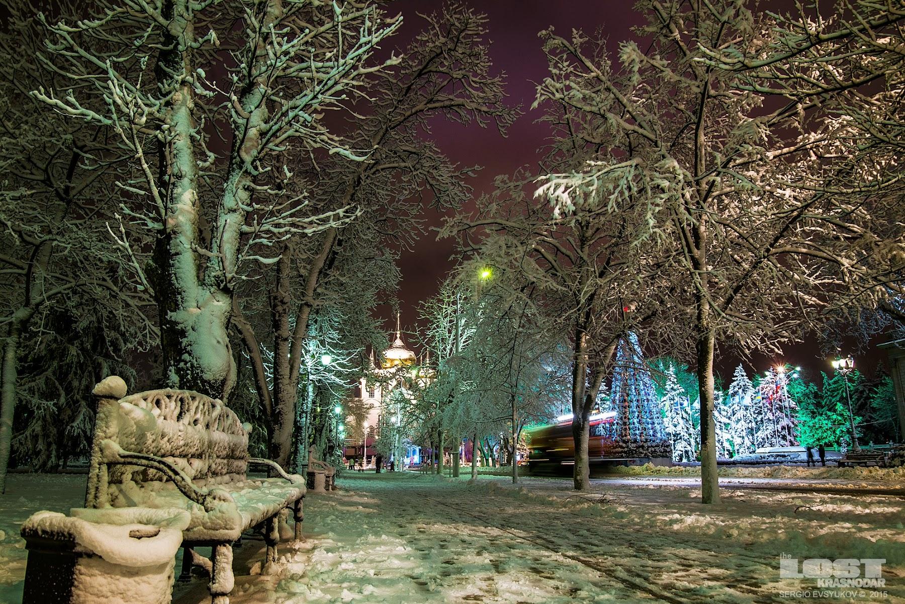Снег на Кубани