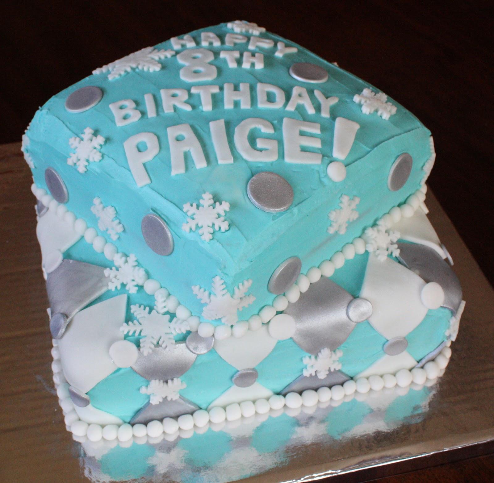Straight To Cake 8th Birthday Winterskating Theme