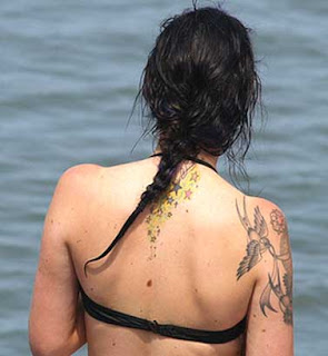 star tattoos on back